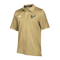 Men's USF Bulls Adidas Official Sideline Iconic Climalite  Polo