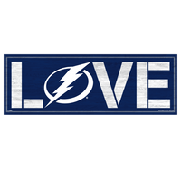 Tampa Bay Lightning Wincraft Love Wood Sign