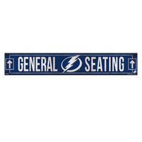 Tampa Bay Lightning Wincraft General Seating Wood Sign