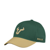 Men's USF Bulls adidas Structured Green Flex Hat