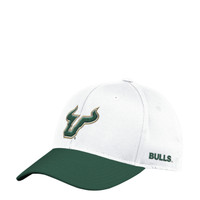 Men's USF Bulls adidas Structured White Flex Hat