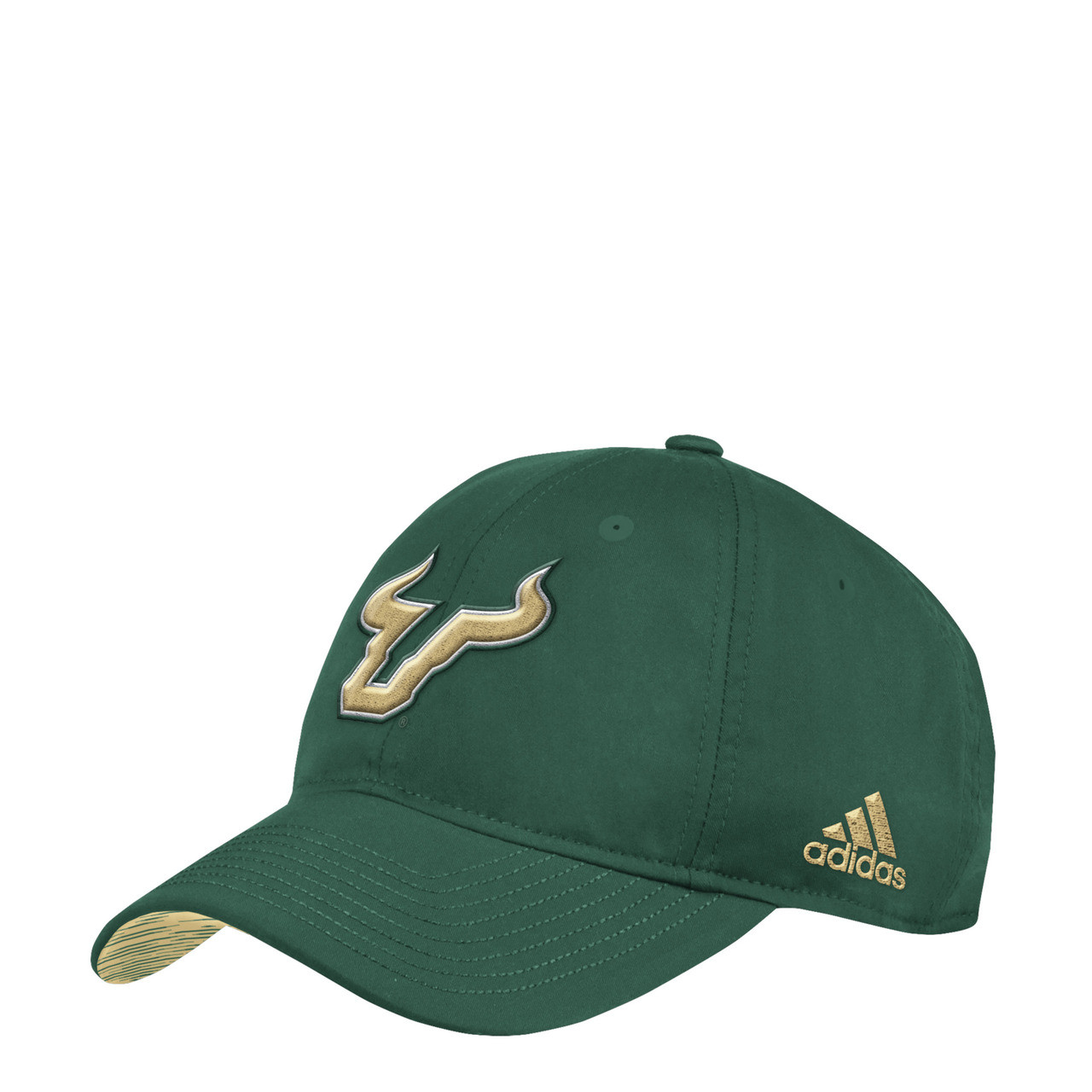 Men s USF Bulls adidas Adjustable Green Slouch Hat - Tampa Bay Sports 11768cbf462