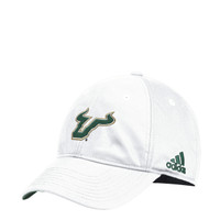 Men's USF Bulls adidas Adjustable White Slouch Hat