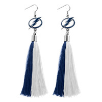 Tampa Bay Lightning Tassel Earrings