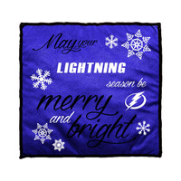 Tampa Bay Lightning Merry & Bright Holiday Pillow