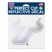 USF Bulls Reflective Perfect Cut 6x6""