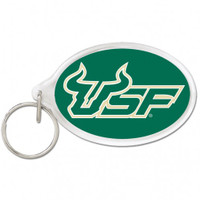 USF Bulls Oval Acrylic Key Ring