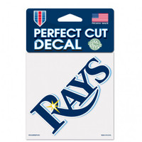 "Tampa Bay Rays 4x4"" Rays Wordmark Perfect Cut Color Decal"