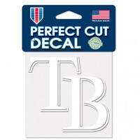 "Tampa Bay Rays 4x4"" Perfect Cut White Decal"