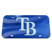 Tampa Bay Rays WinCraft Crystal Mirror License Plate