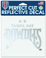 Tampa Bay Rowdies Perfect Cut Reflective Decal