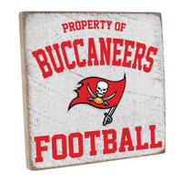 Tampa Bay Buccaneers Rustic Marlin Property of Classic Sign