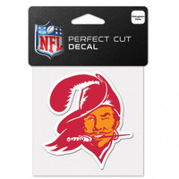 "Tampa Bay Buccaneers 4x4"" Classic Retro Logo Perfect Cut Color Decal"