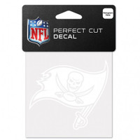 "Tampa Bay Buccaneers 4x4"" Perfect Cut White Decal"