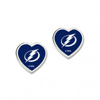 Tampa Bay Lightning WinCraft Heart Post Earrings