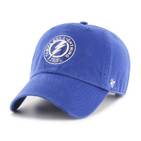 Men's Tampa Bay Lightning '47 Brand Shoulder Patch Royal Clean Up Hat