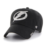 Women's Tampa Bay Lightning '47 Brand Black Sparkle Clean Up Hat