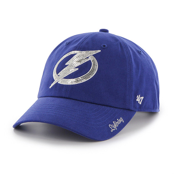 ... Women s Tampa Bay Lightning  47 Brand Royal Sparkle Clean Up Hat. Image  1 40aa581f4a