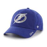 Women's Tampa Bay Lightning '47 Brand Royal Sparkle Clean Up Hat