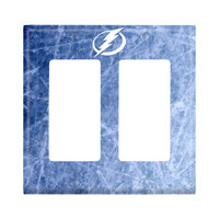 Tampa Bay Lightning Double Rocker Light Switch Cover