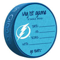 "Tampa Bay Lightning ""My First Game"" Souvenir Puck"