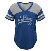Girl's Tampa Bay Lightning Scripted Shot Tee