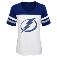 Youth Tampa Bay Lightning Girls Shimmer Ice Tee