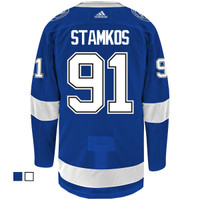 #91 STEVEN STAMKOS adidas ADIZERO Lightning Jersey with Authentic Lettering