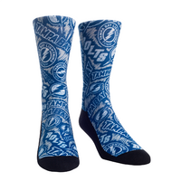 Tampa Bay Lightning Logo Sketch Blue Socks