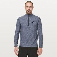 54e7557fd1615 Men s Tampa Bay Lightning lululemon Heathered Nautical Navy Surge Warm 1 2  Zip. Quick View