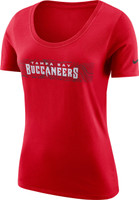 Women's Tampa Bay Buccaneers Nike Scoop Team Logo Tee