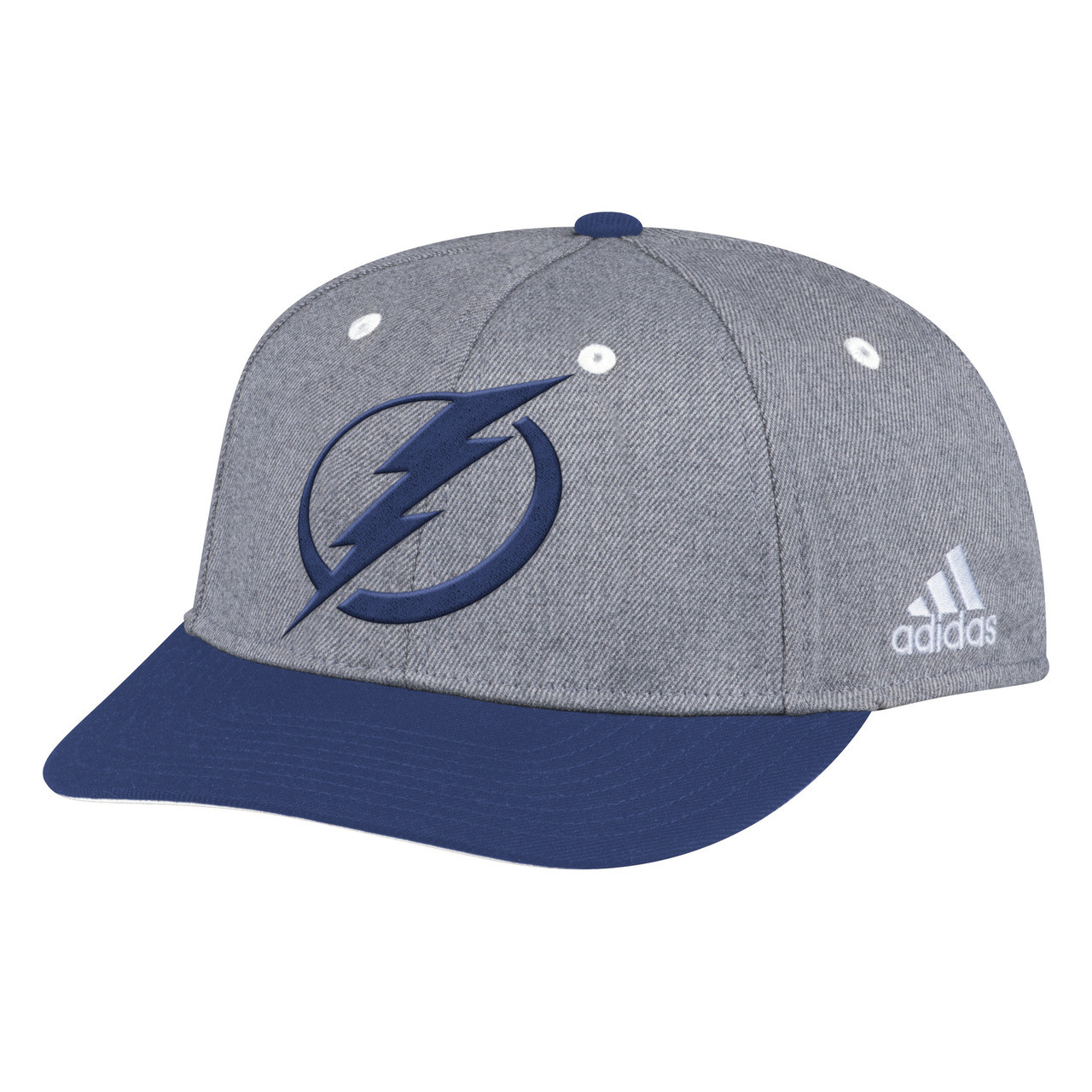 e1657011a0158 Tampa Bay Lightning adidas Two Tone Structured Adjustable Hat ...