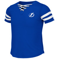 Tampa Bay Lightning Girls Wels Lace Up Tee