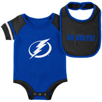 Tampa Bay Lightning Royal Roll-Out Onsie & Bib Set
