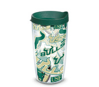 USF Bulls 16oz All Over Tervis Tumbler