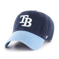 Men's Tampa Bay Rays '47 Brand Two Tone Navy Clean Up Hat