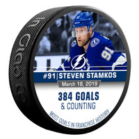 Steven Stamkos Tampa Bay  Lightning Limited Edition Goal Record Puck