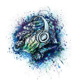 VDD Exclusive Gorilla Warfar - Light Blue Headphones