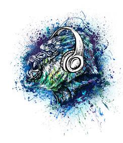 VDD Exclusive Gorilla Warfar - White Headphones