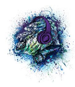 VDD Exclusive Gorilla Warfar - Purple Headphones