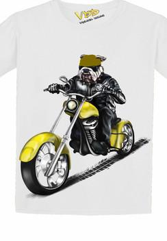 VDD Exclusive Bulldog Yellow Motor Cycle