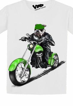 VDD Exclusive Bulldog Green Motor Cycle