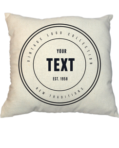 Pillow - Vintage Stamp 1001