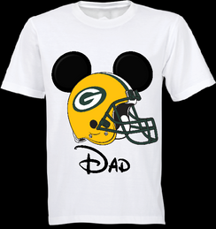 Mickey Mouse Team Packers Custom