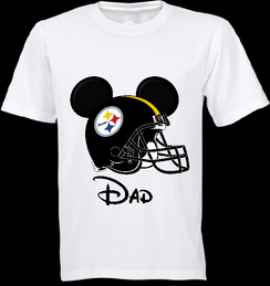 Mickey Mouse Team Steelers Custom