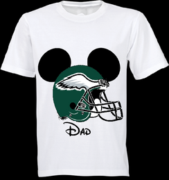 Mickey Mouse Team Eagles Custom