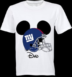 Mickey Mouse Team Giants Custom