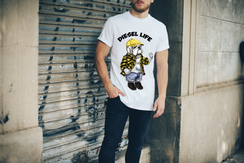 Yellow Plaid Shirt & Hat Animal House Arched Logo T-Shirt