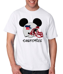 Sports Boston Football Ears Tshirt Mens Boys Baby Infant Bleed Theme Big Tall Plus Sizes Custom Tee