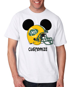 Sports Green Wisconsin Football Ears Tshirt Mens Boys Baby Infant Bleed Theme Big Tall Plus Sizes Custom Tee